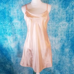 Anthro Maeve Peach Slip Mini Dress